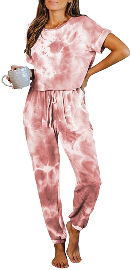 Tie Dye Lounge Set- Long pants/cropped top:  Trending Now