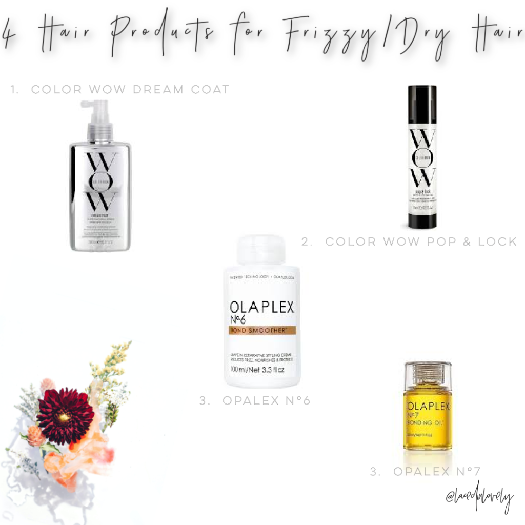 4 Hair Products for dry/frizzy hair